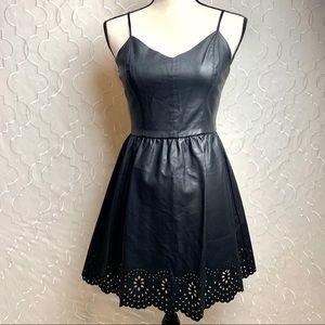 Forever 21 | Faux Leather Black Mini Dress
